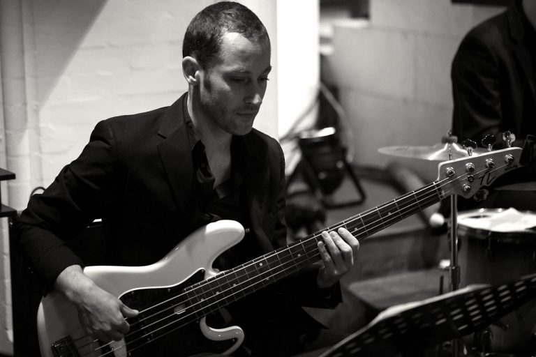 """Versatile bass player, Daniel Thieme, joined the band in it's original formation. Since then, he has shared functions as band leader and mixing engineer on the band's first EP in 2008. Not only is he a skilled funk and upright bass player, but Daniel is also a talented classical contrabassist and a regular background vocalist for live shows. Trained at Hamburg's Hochschule für Musik and the prestigious Berklee College of Music in Boston, Daniel has performed in the pit orchestras of Hamburgs hit musicals, """"The Lion King"""", """"Dance of the Vampires"""", """"Dirty Dancing"""", and """"Ich War Noch Niemals in New York"""". He regularly plays for the Hamburg Kammeroper and the Operettenhaus. Daniel has also been a member of the successful Arabian band, The Shibly Band, since 1998. In 2011, he released his first solo CD, """"Morphosis""""."""
